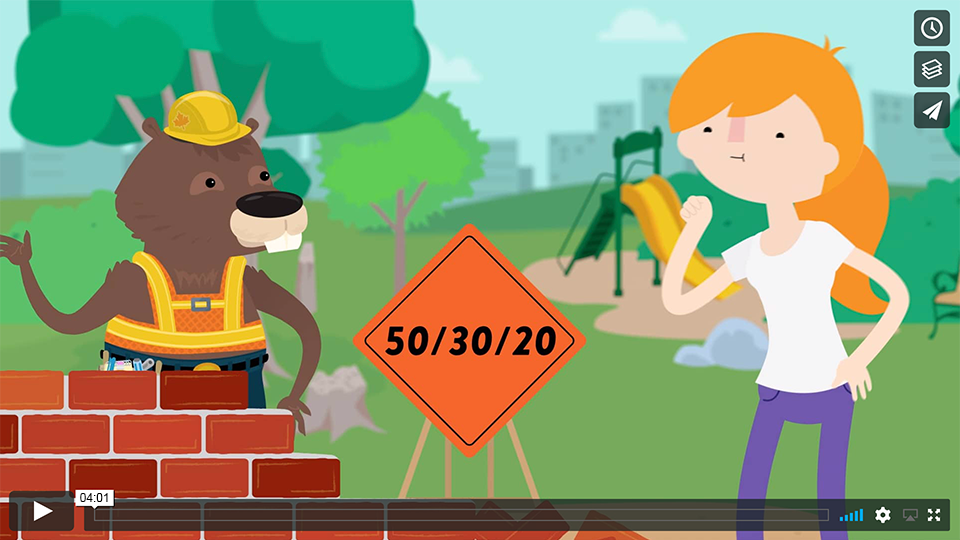 Budgeting with the 50/30/20 rule! Video